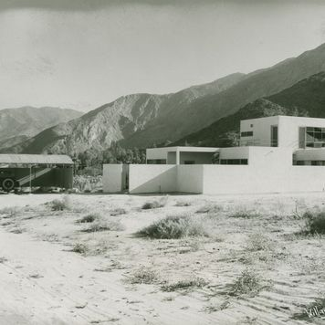 Kocher-Samson office building and apartment- side view of building, Palm Springs, Calif., circa 1934-1935.