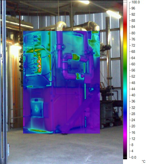 Thermal image of a plant with 900 kW heating power