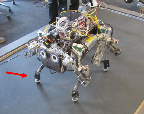 Wireless body network of InES at ETH Robot StarlETH