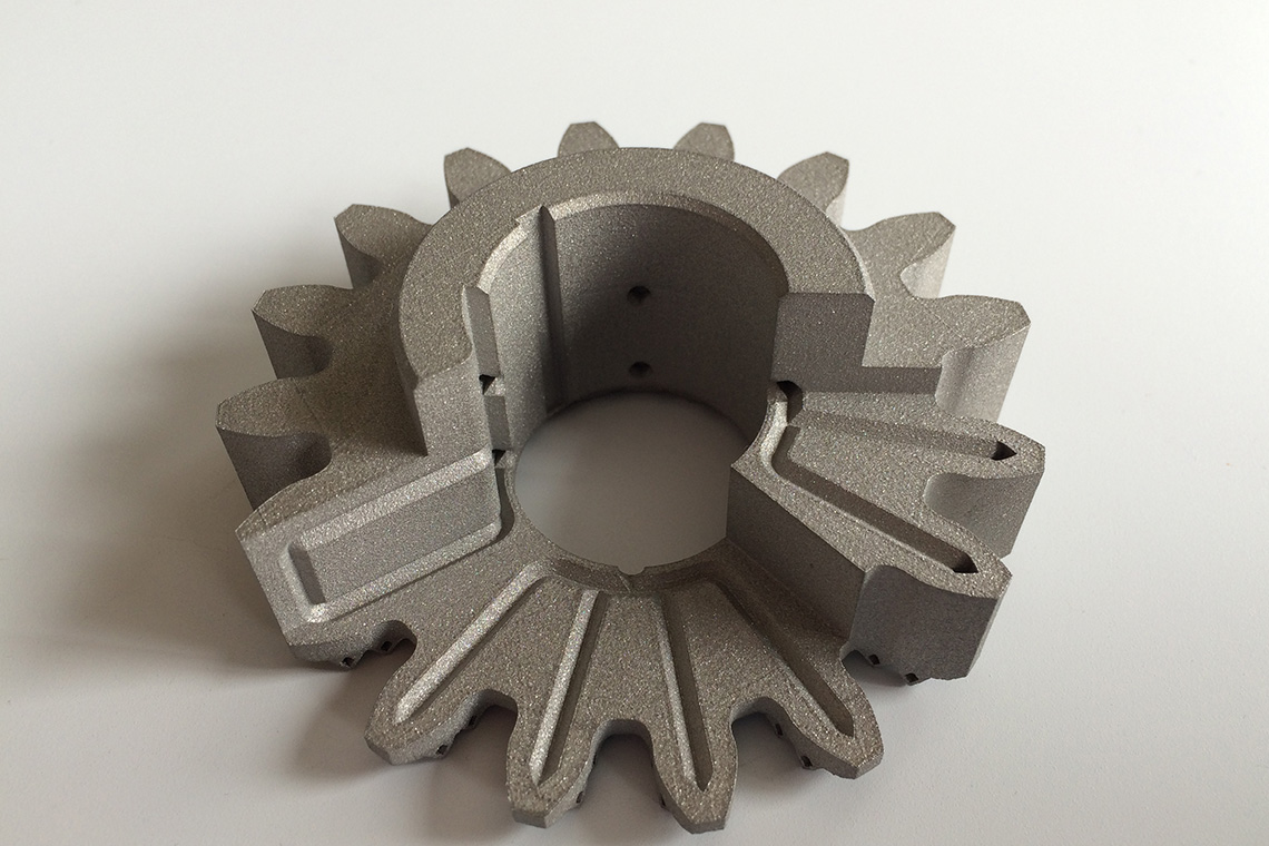 Additive Manufactured (AM) gear wheel with integrated cooling
