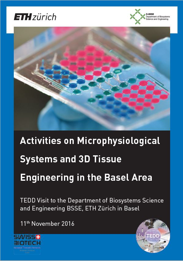 Flyer cover TEDD Visit to the Departement of Biosystems Science