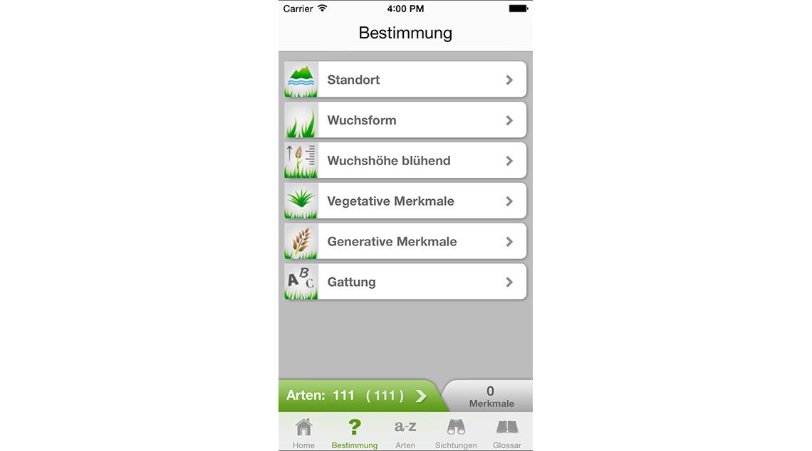 App iGräser | ZHAW Life Sciences und Facility Management