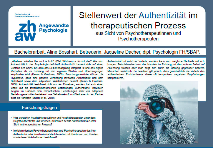 Poster Authenzitität in der Psychotherapie