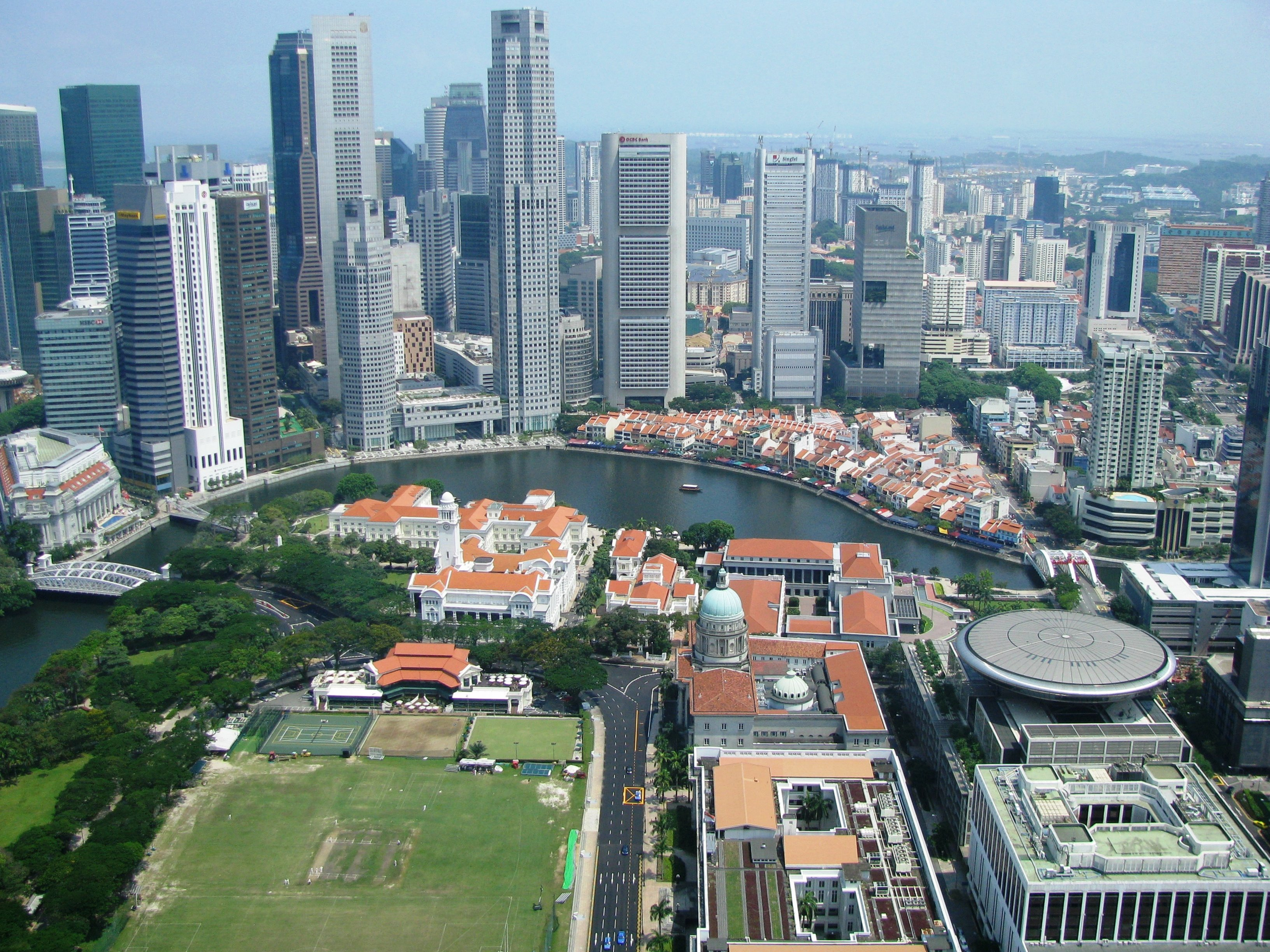 Business District in Singapur